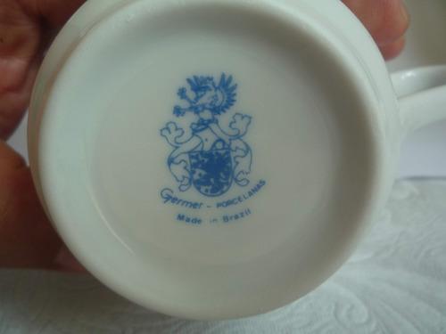 lindo conjunto de chá germer porcelanas
