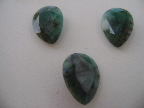 lindo conjunto de esmeralda para fazer brincos e pingentes