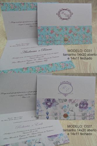 lindo convite de casamento barato (100 unidades)