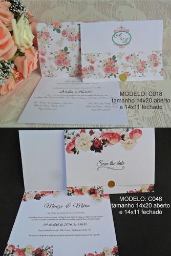 lindo convite de casamento barato (150un) frete grátis