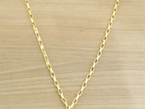 lindo cordao corrente 60 cn banhada a ouro 18k