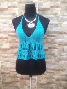 565827225edeb Crop Top Hilo Crochet - Vestuario y Calzado en Mercado Libre Chile