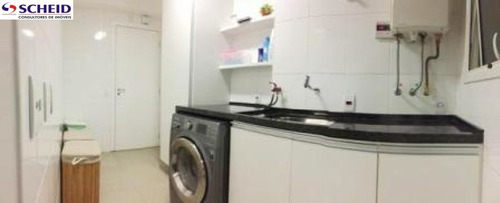 lindo, decorado p/arquiteta 113m², 2 dorm.suite, 3 wc, 2 vagas, varanda gourmet, lazer completíssimo - mc3598