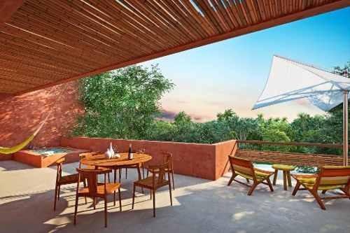 lindo departamento penthouse en aldea zamá, tulum listo para entrega