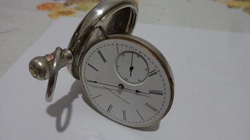 lindo e antigo relógio de bolso made usa marca elgin
