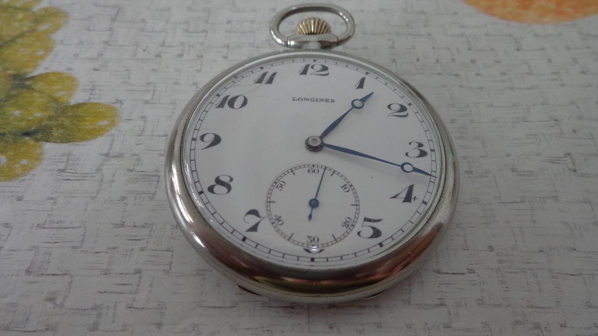 c232cb2be1e lindo e antigo relógio de bolso suiço marca longines . Carregando zoom.