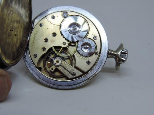 cb2f3d22fde Lindo E Antigo Relógio De Bolso Suiço Marca Longines - R  880
