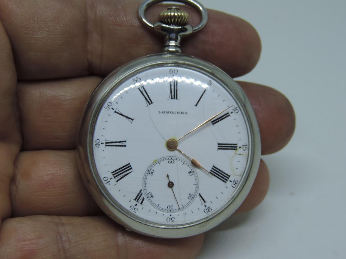 091419f7f25 lindo e antigo relógio de bolso suiço marca longines. Carregando zoom.