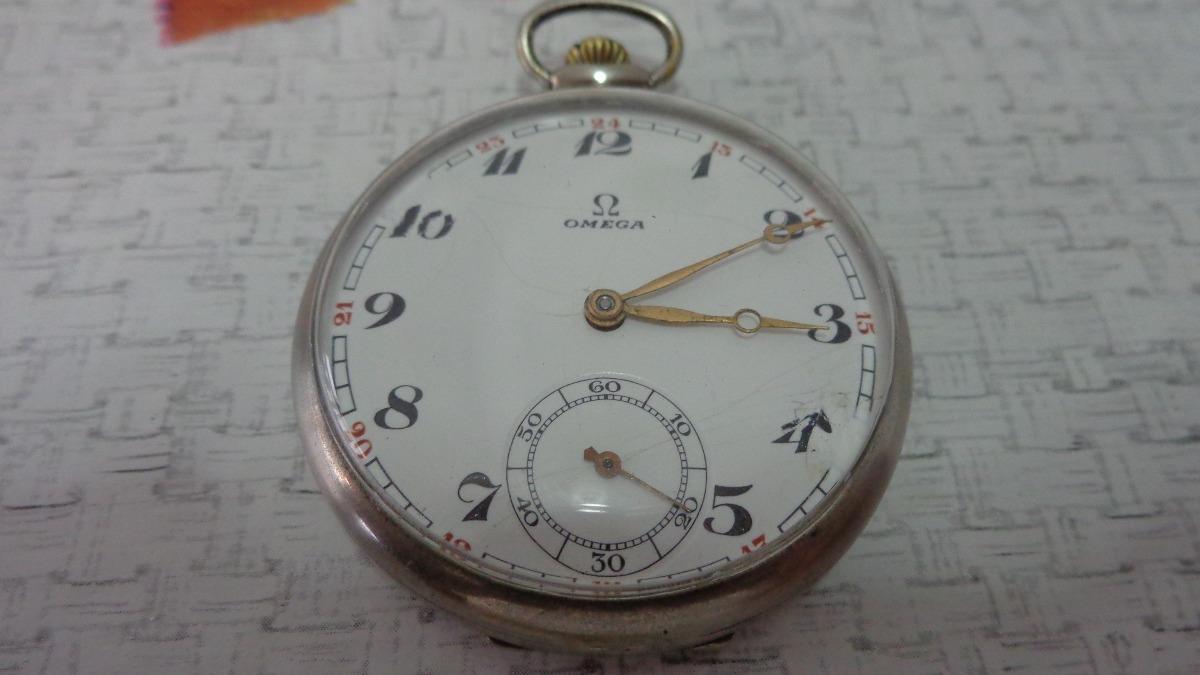 178f07870fe lindo e antigo relógio de bolso suiço marca ômega . Carregando zoom.
