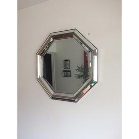 Lindo Espejo Octagono Cooper Antique Dorado Oscuro Jaspeado.