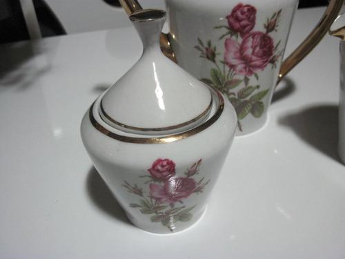 lindo jogo de chá porcelana pozzani