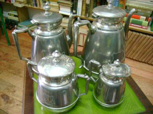 lindo juego de tè plaquè,4 piezas simson miller co.