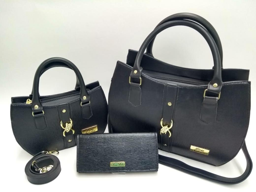 b46c59710 Lindo Kit 2 Bolsa Feminina + Carteira De Luxo - R$ 125,00 em Mercado ...