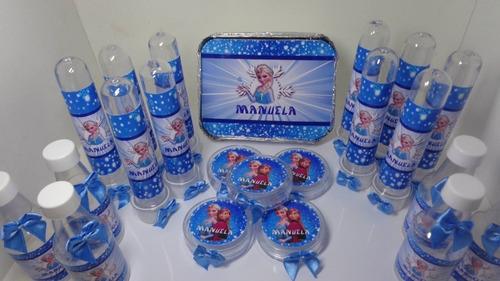 lindo kit festa personalizado 120 unidades + brinde