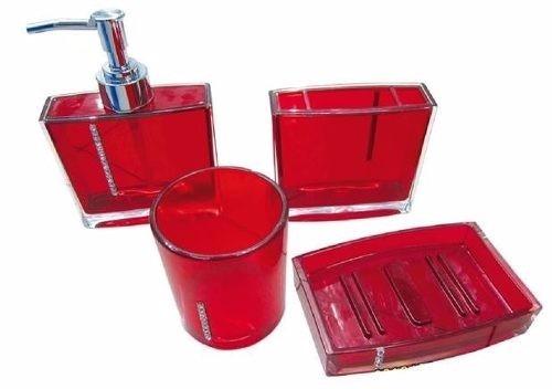 Kit Banheiro Acrilico Strass : Lindo kit jogo banheiro pe?as acrilico strass pronta