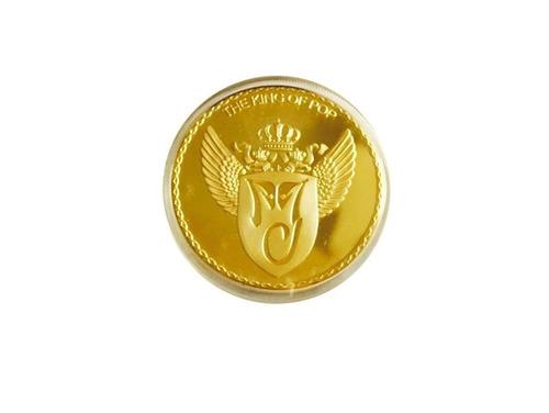 lindo lote com 4 moedas comemorativas michael jackson