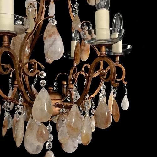 lindo lustre cristal de rocha citrino