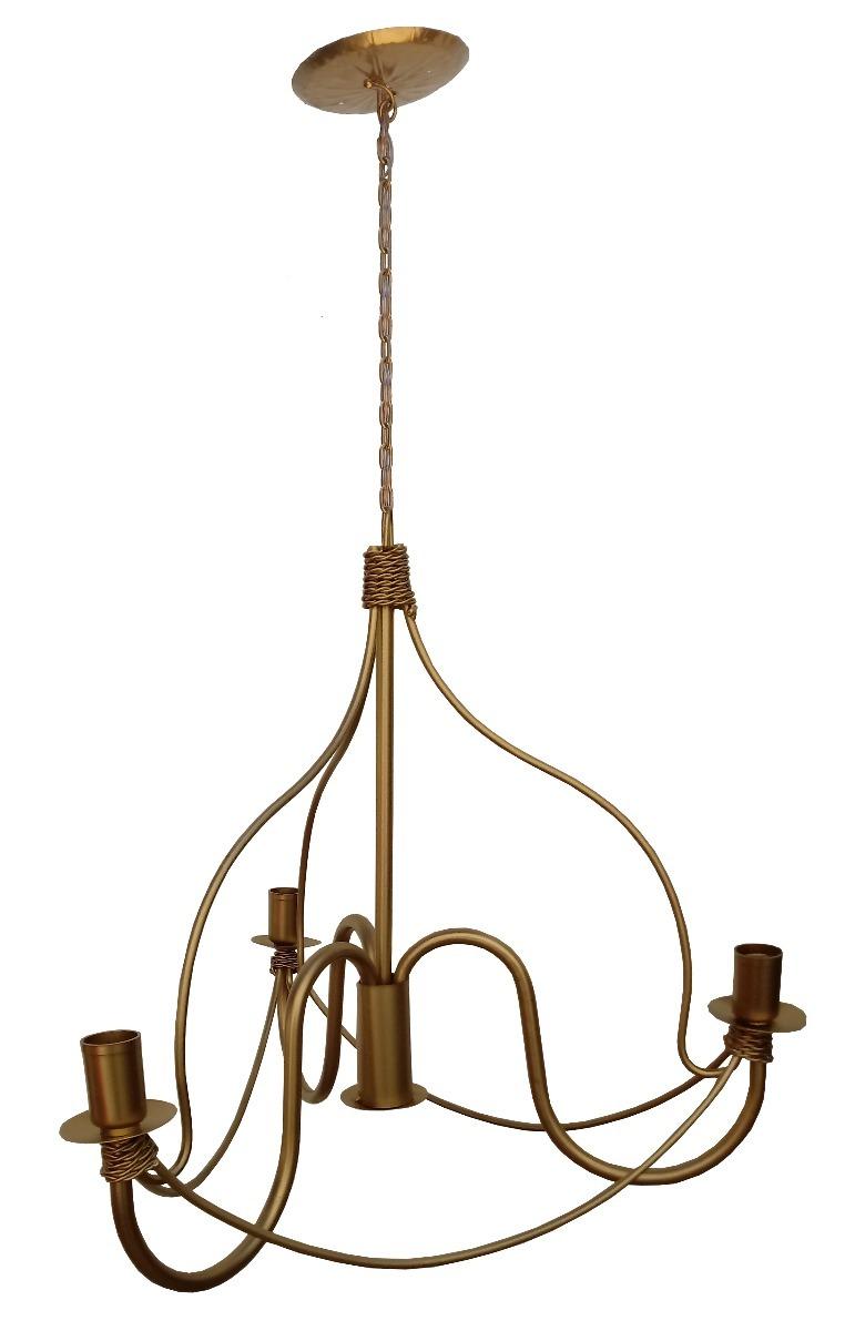 Lindo Lustre Dourado Moderno Para Ilumina O Sala De Jantar R 288