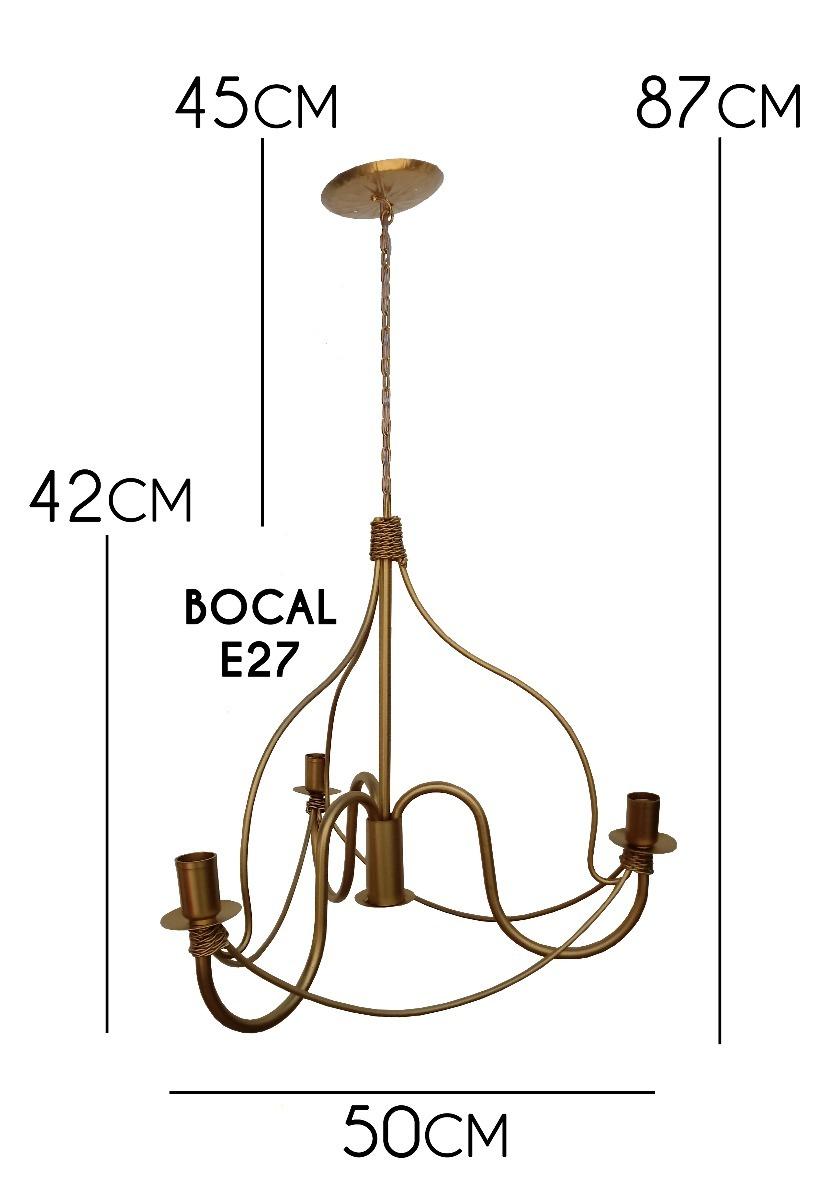 Lindo Lustre Dourado Moderno Para Ilumina O Sala De Jantar R 288  -> Lustre Para Sala De Jantar Dourado