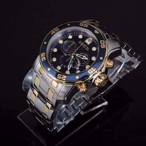 2337097ec6a Lindo M20222 Relógio Invicta Pro Diver 0077 Prata Dourado - R  419 ...