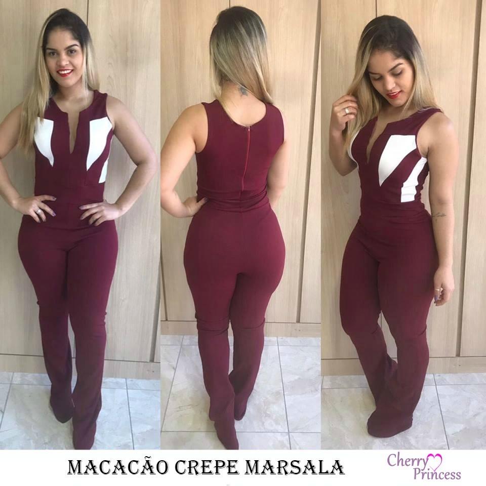 3960b1cd6 Lindo Macacão Feminino Festas Social Melhor Preço Do Ml  b - R  157 ...
