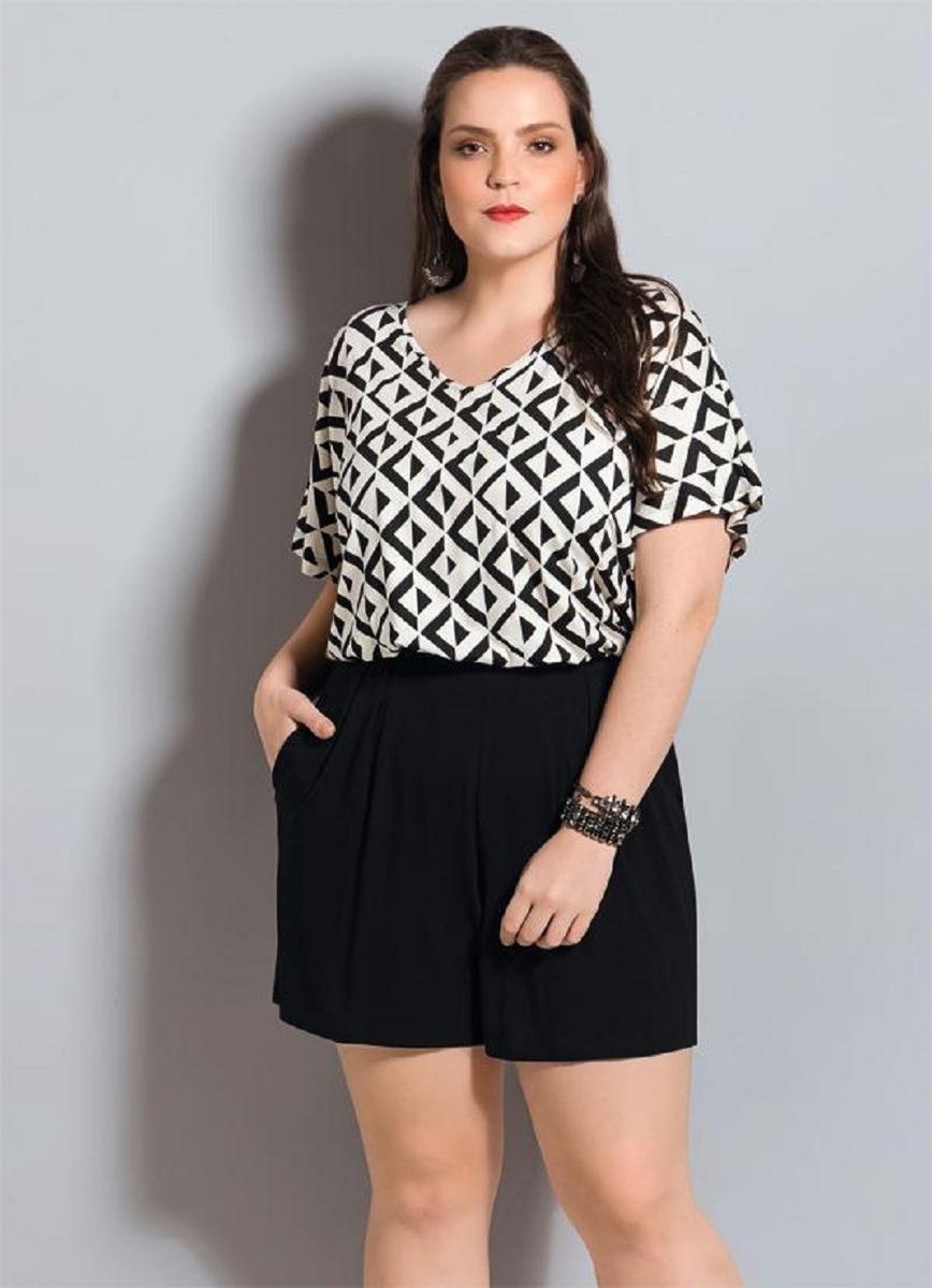 fe35428ba lindo macaquinho feminino plus size p b moda roupa feminina. Carregando  zoom.