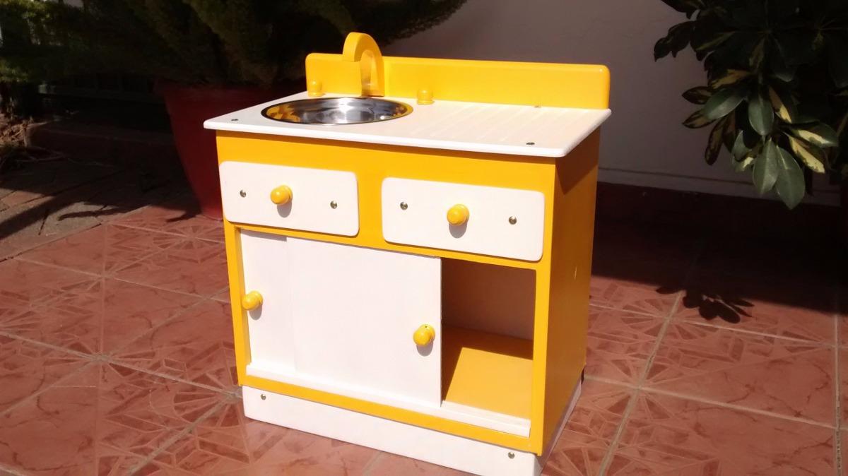 Lindo mueble lavaplatos de madera para ni as y ni os for Muebles de madera para ninos
