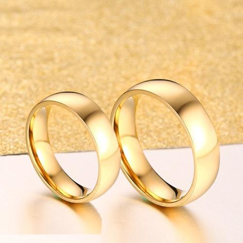 lindo par alianças  6mm banhadas a ouro 18k frete grátis!