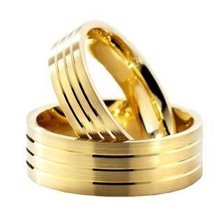 lindo par de alianças 8mm, cor ouro comprom.frete grátis!