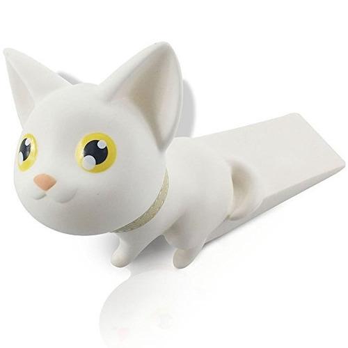 lindo protector del dedo de la puerta del gato tapón cuña, f