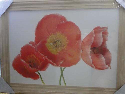 lindo quadro !!!!!  flor tulipa orquidea rosa buque 75 x 55