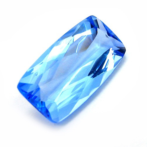 lindo quartzo marine 10,5 cts antique multifacetada