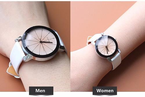 ea2e3ac9d55 Lindo Relógio Clássico De Luxo Feminino Preto branco P couro - R  29 ...
