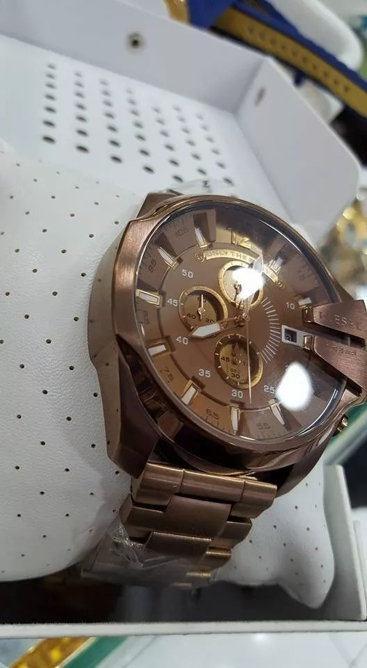 977b6dfbc54 lindo relógio diesel dz 4355 marrom chocolate promocional. Carregando zoom.