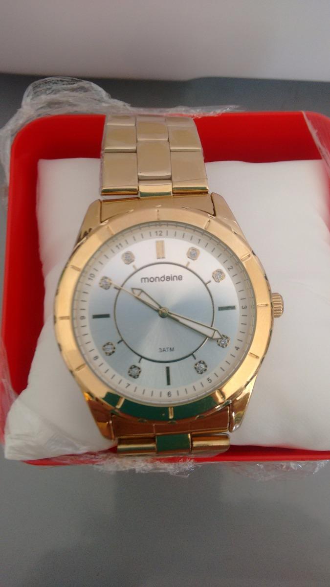 97c1b787abe lindo relógio feminino mondaine de luxo caixa de 4 cm. Carregando zoom.