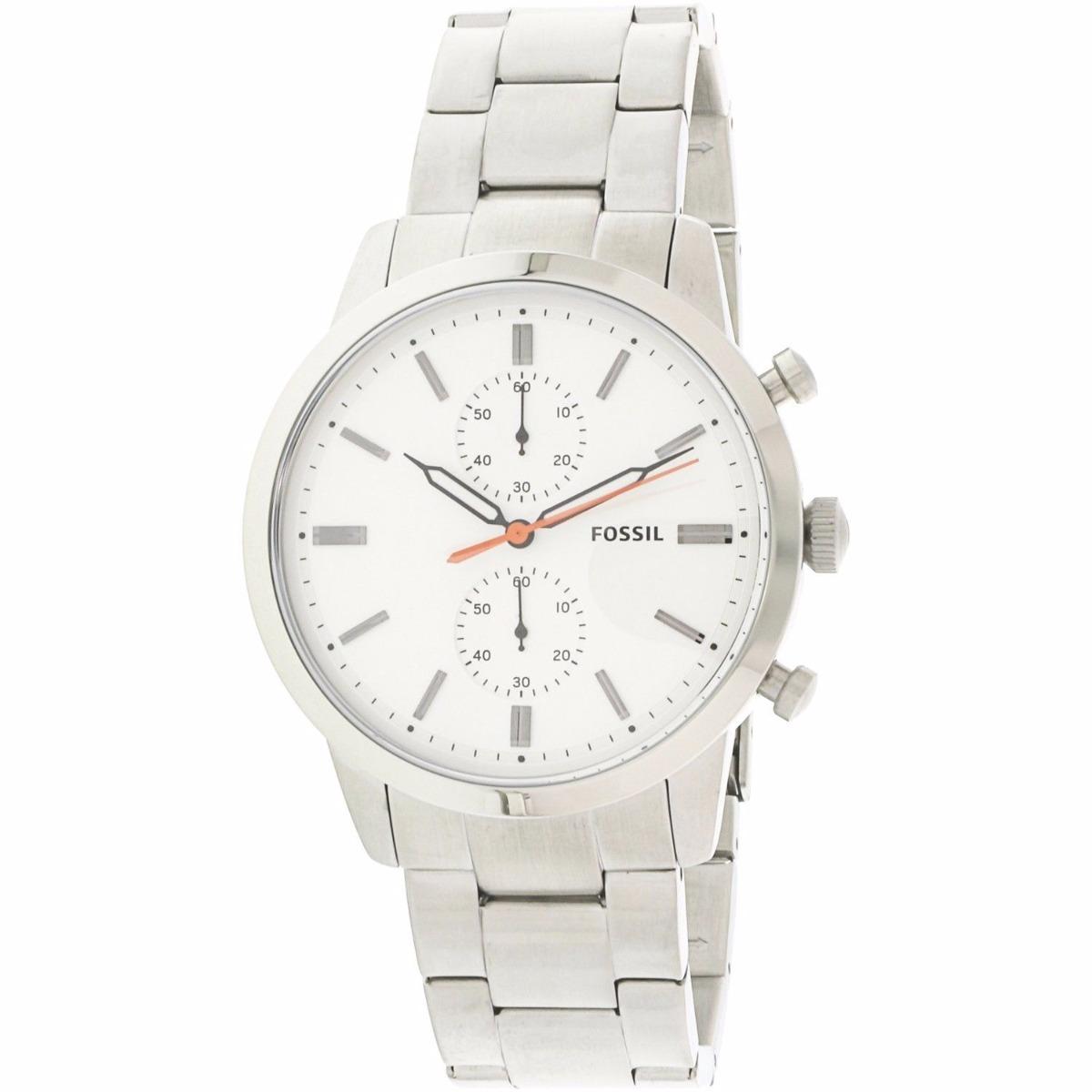6ee335611 lindo relógio fossil masculino townsman fs5346 prata. Carregando zoom.