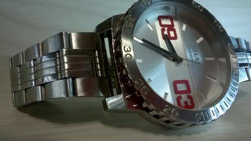 lindo relógio freestyle shark aço puro item  de colecionador