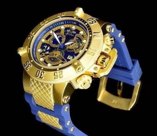 bb2f68cd282 Lindo Relógio Invicta 5515 Dourado Azul Original Garantia - R  398 ...