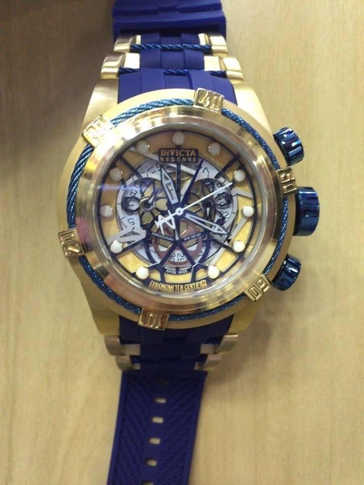 38ac71f87dc Lindo Relógio Invicta Zeus Bolt Skeleton Azul Lançamento