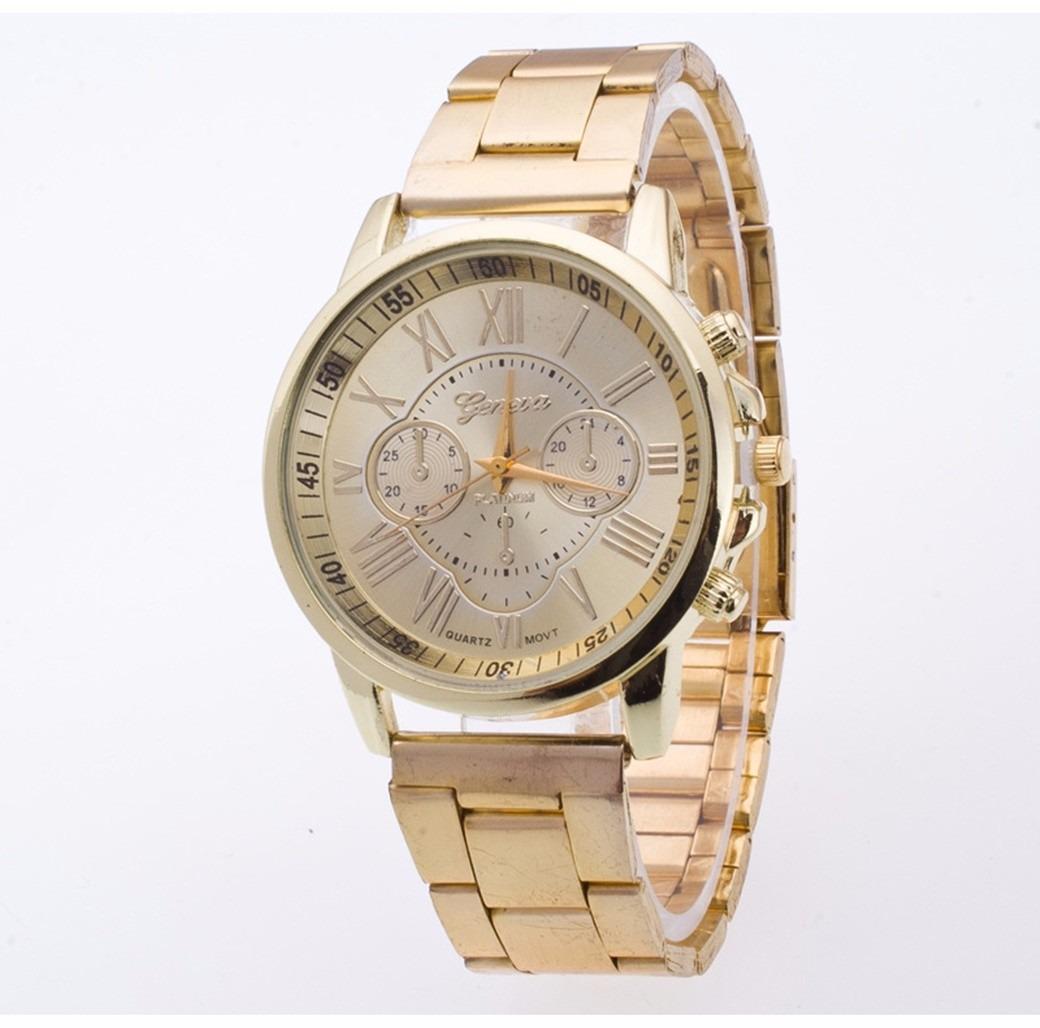 99b1c091d27 lindo relógio pulso feminino dourado aço inóxidavel mulher. Carregando zoom.