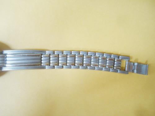 lindo relógio suiço bulova feminnino pulseira aço bicolor