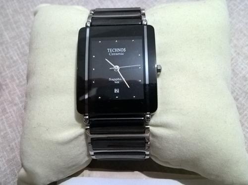 lindo relógio technos ceramic sapphire luxo