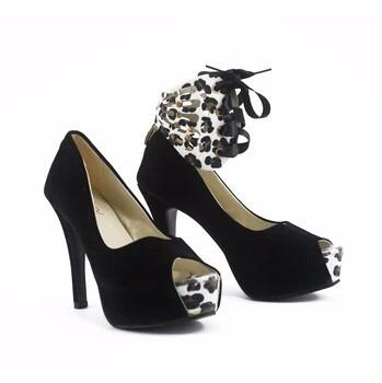 lindo sapato feminino salto alto importado - pronta entrega!