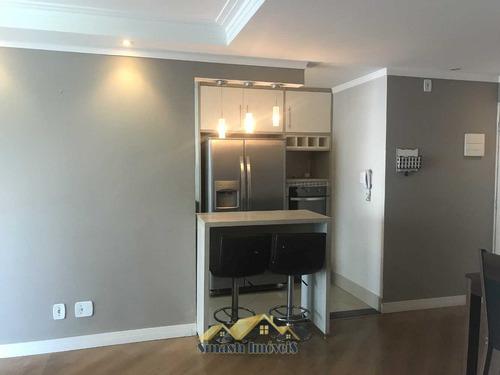 lindo semi mobiliado, 83 m² com 02 dormitorios e varanda gou