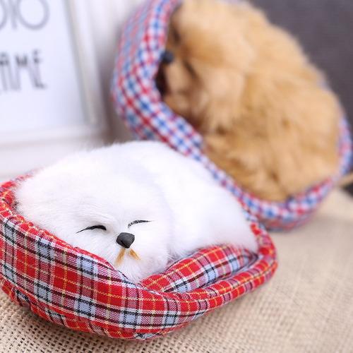 lindo simulación que sonido durmiente perro felpa muñeca