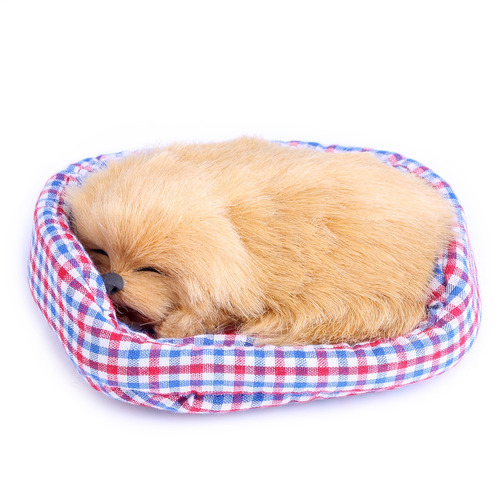 lindo simulación que sonido muñeca felpa perro durmiente c