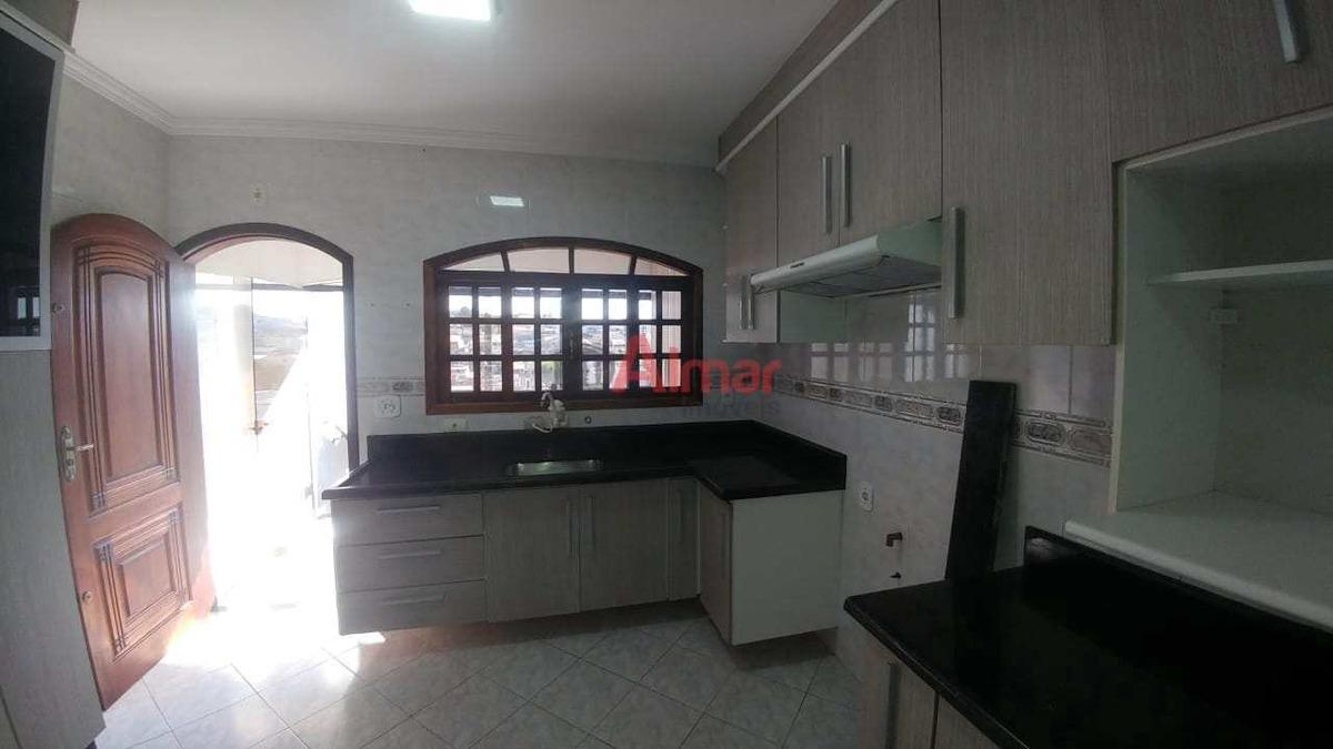 lindo sobrado 3 dormitórios móveis planejados de 1º na cozinha - v7669
