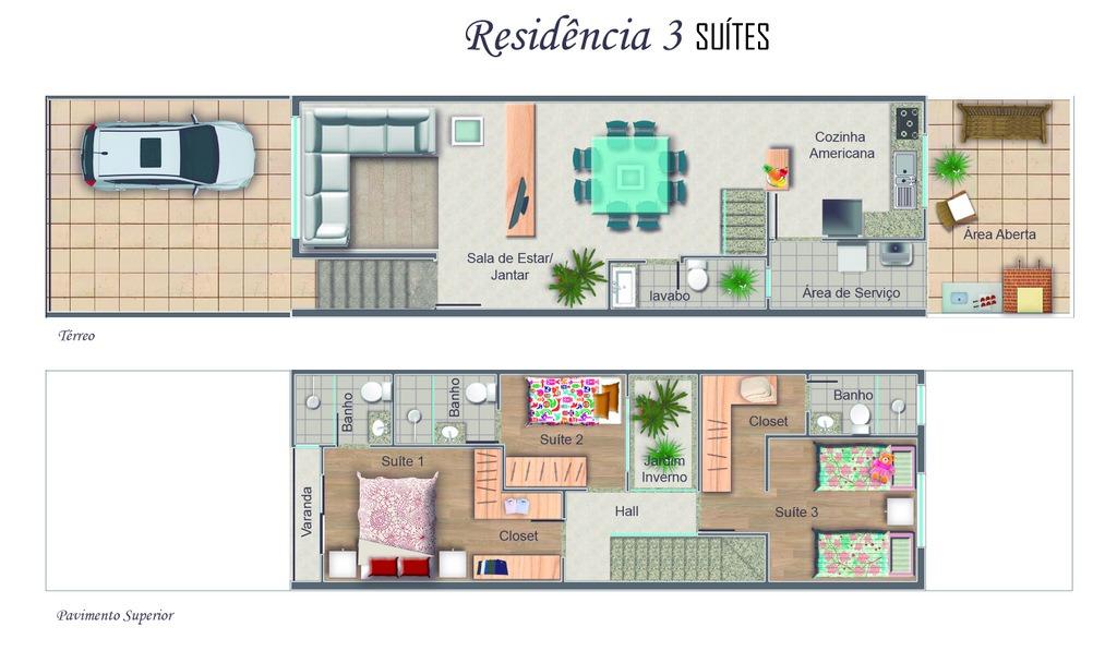 lindo sobrado com 3 suites! ref.76379