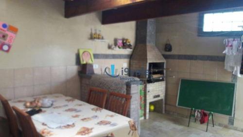 lindo sobrado de 3 dormitórios, com churrasqueira, bosque dos ipês - ca0671