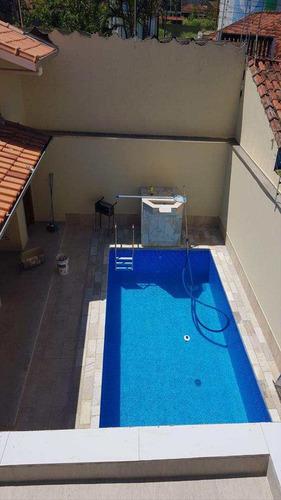 lindo sobrado lado praia com piscina em itanhaém  v5548